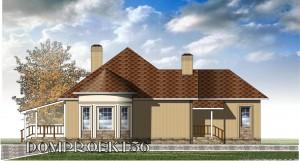 Готовый проект одноэтажного дома 150 м2 с гаражом
