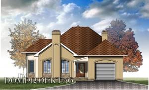 Одноэтажный дом с камином. Проект 17-12