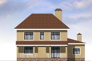 Двухэтажный дом с гаражом  на 2 автомобиля. Проект 16-12
