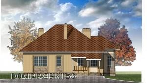 готовый проект одноэтажного дома  с гаражом