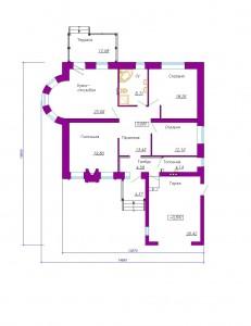Готовый проект одноэтажного дома 150 м2 с гаражом. Планировка