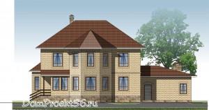 Двухэтажный жилой дом с гаражом на два а/м. Проект 18-12