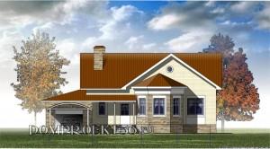 Одноэтажный загородный дом с эркером Проект 09-12