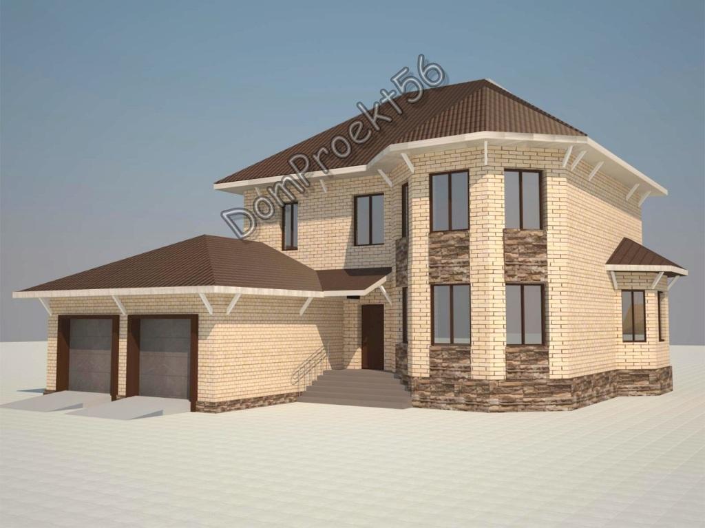 Дом с эркером, площадью  317,80 кв.м. Проект 22-12