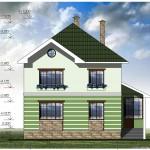 Двухэтажный жилой дом. Проект 19-12
