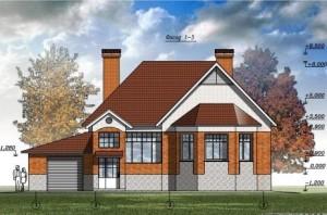 Одноэтажный дом с гаражом и баней. Проект 08-12
