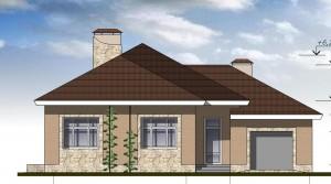 Одноэтажный дом с гаражом  Проект 28-13