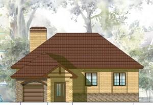 Одноэтажный дом с гаражом  Проект 20-13