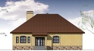Загородный жилой дом.  Проект 19-13