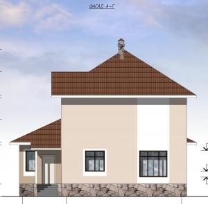 Двухэтажный дом с гаражом.  Проект 05-13