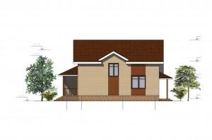 Мансардный дом с гаражом.  Проект 04-13