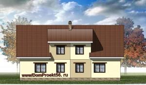 Мансардный дом на два хозяина.  Проект  17-13