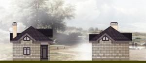 Загородный (дачный) дом .  Проект 05-1-13