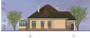 Одноэтажный жилой дом с гаражом