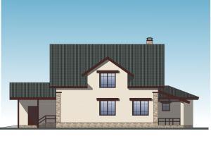 Мансардный жилой дом с гаражом и баней. Проект 24-14.