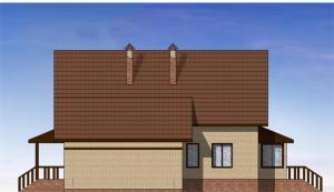 Мансардный жилой дом с гаражом. Проект 12-14.
