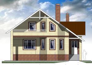 Мансардный жилой дом с гаражом. Проект 23-12.