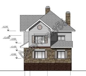 Деревянный двухэтажный жилой дом. Проект 07-14