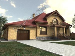 1 Perspektiva mansardniy dom s baney i garajdm