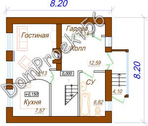 1 etaj plan 2-h etajniy datchniy dom
