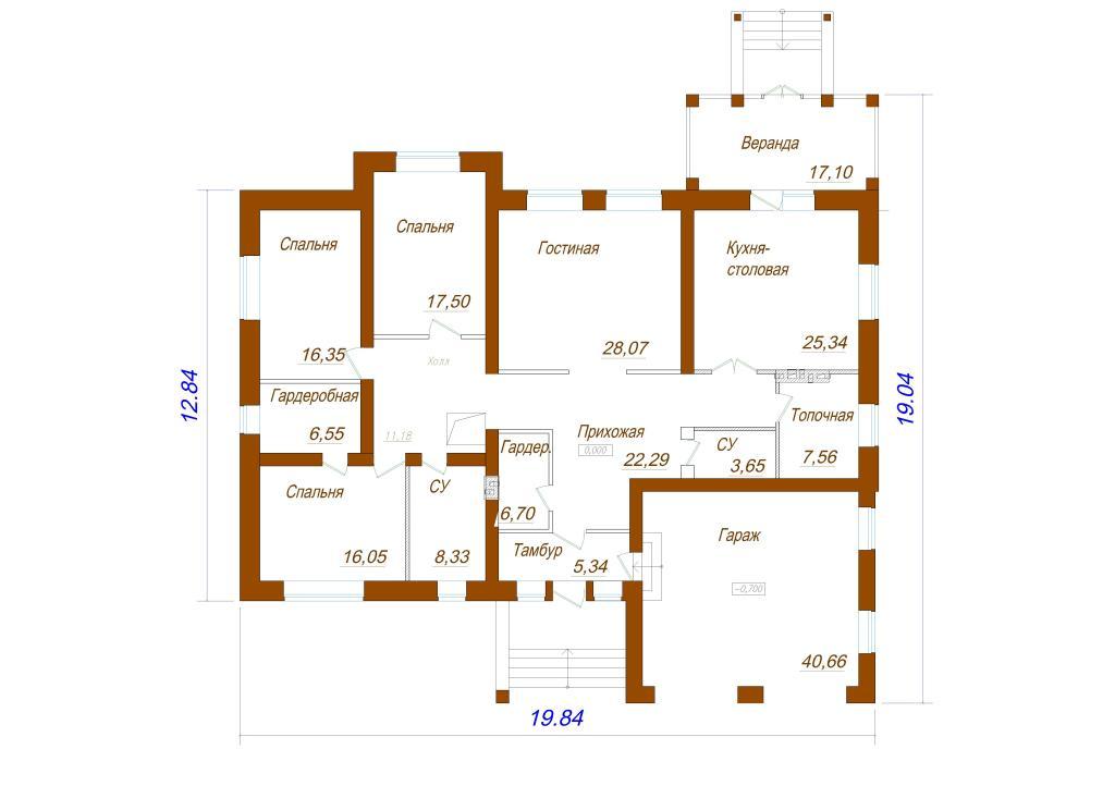 1-no_etajniy_ dom_s_garajom_Plan 1 et