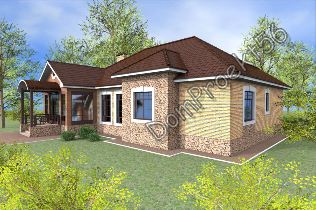загородный жилой дом с гаражом проект