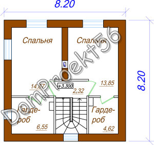 2 etaj plan 2-h etajniy datchniy dom