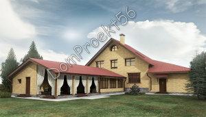 2Perspektiva mansardniy dom s baney i garajdm