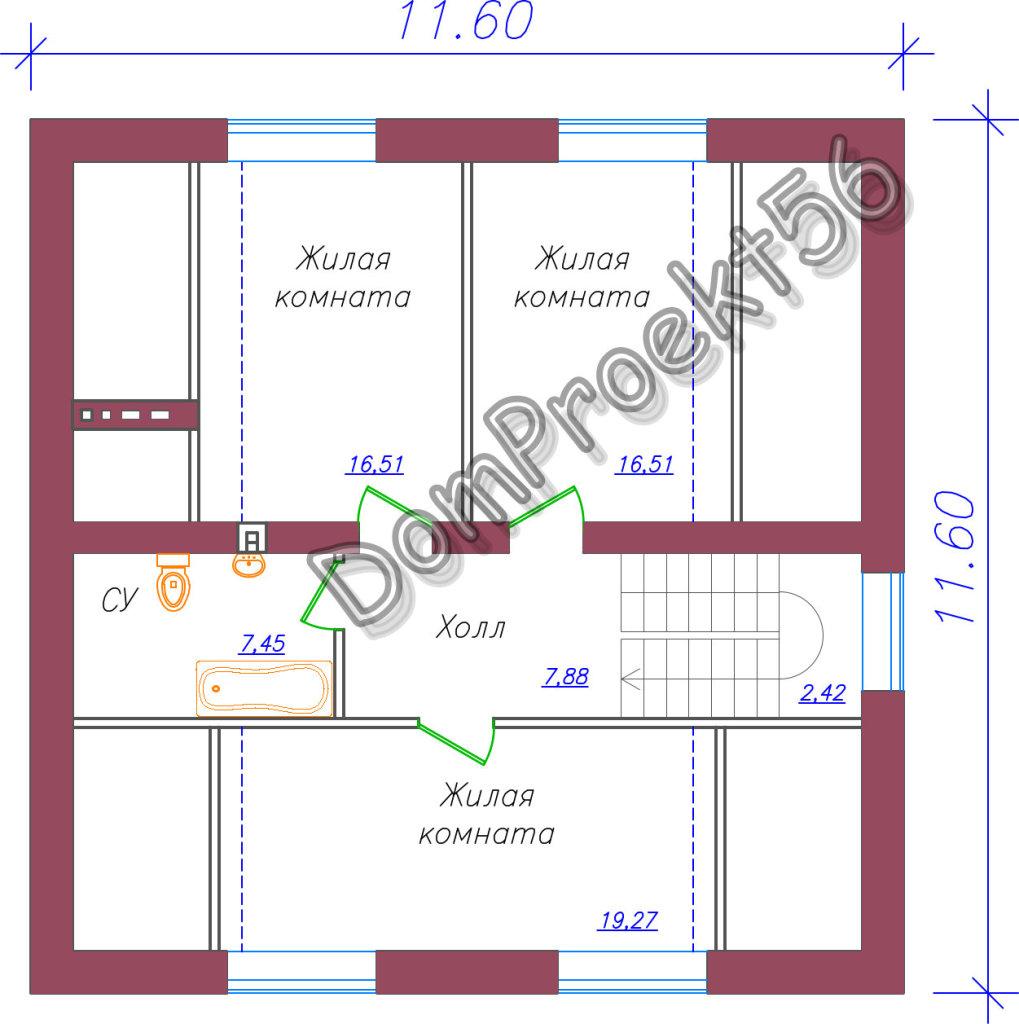 mansardniy_ dom_s_dvuskatnoy_krishey_plan_2_go_etaja