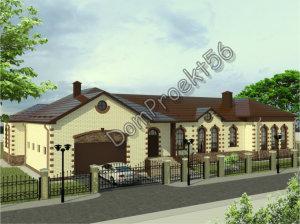 Одноэтажный дом с бассейном и сауной. Проект 29-15
