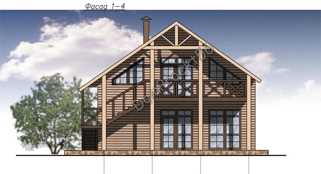 Небольшой дачный дом из бруса. Проект 09-16