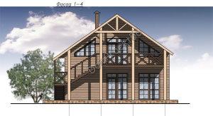 Dachniy-dom-iz-brusa-fasad-glavniy