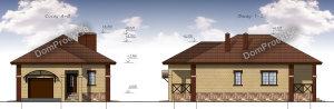 Проект одноэтажного дома с баней