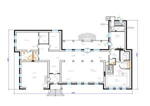 Одноэтажный дом с бассейном и сауной