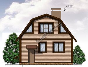 Дачный дом на рельефе. Проект 10-16
