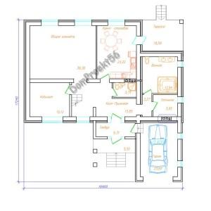 чертеж первого этажа