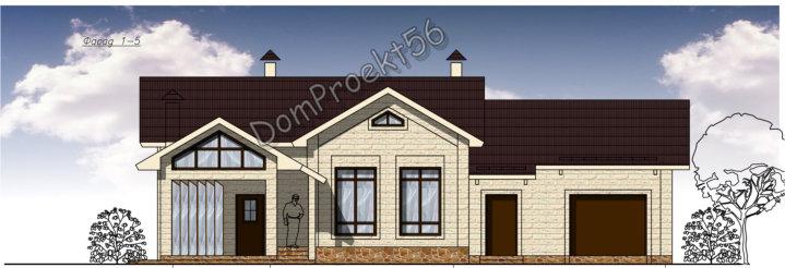 Проект хозяйственного блока 12-16 с гаражом, бассейном и баней