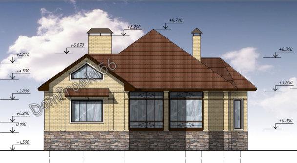 Одноэтажный дом с подвалом  Проект  30-15