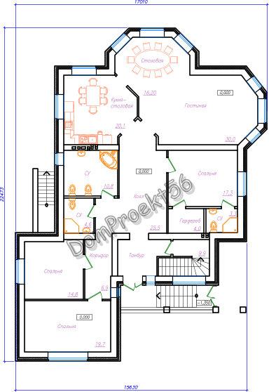 Оноэтажный дом План
