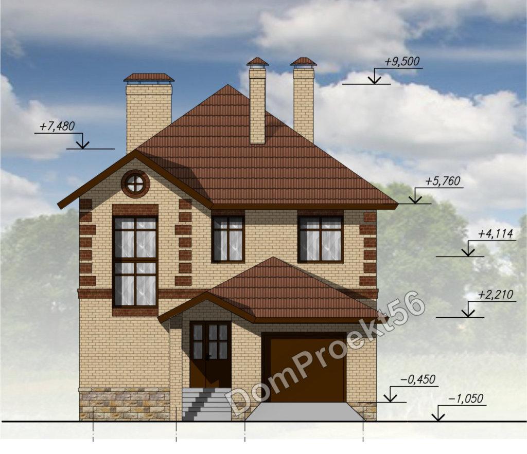 Двухэтажный дом для узкого участка. Проект с гаражом 17-16.