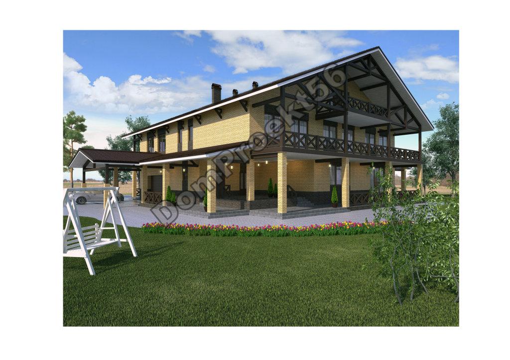 Жилой дом для загородного отдыха. Общая площадь 780 кв.м.